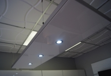Installed modular ceiling panel