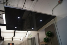 Modular ceiling panel with lights