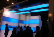 Expo with installed light panels