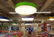 Shopping center with modular light panels