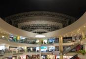 Shopping mall with modular light panels