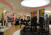 Retail shop with modular light panels