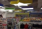 Installed modular light panels
