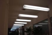 corridor with modular light panels