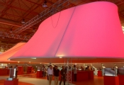 Expo with modular light panel