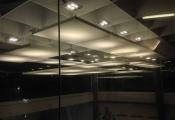 Hall with translucent modular panels