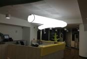 Long 3D modular light panel