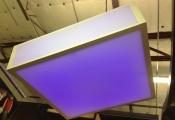 Suspended modular light panel