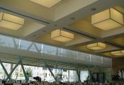 Restaurant with modular light panels