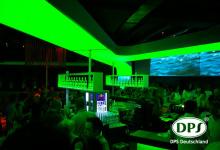 Translucent ceiling in nightclub