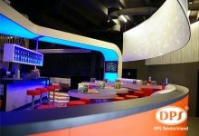 Nightclub with 3D ceiling