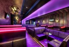 Translucent ceiling in nightbar