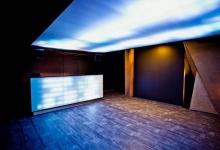 Nightclub with translucent ceiling