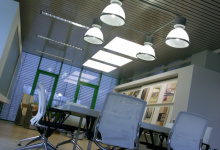 Ceiling tiles in office spaces