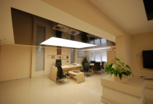 Office with stretch ceiling