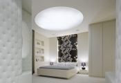 Bedroom with stretch ceiling
