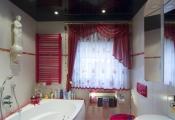 Installed bathroom stretch ceiling