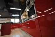 Installed kitchen stretch ceiling