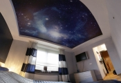 Printed bedroom stretch ceiling
