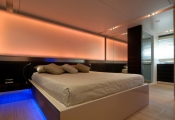Stretch ceiling inside bedroom