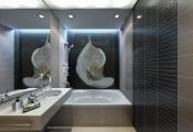Stretch ceiling bathroom