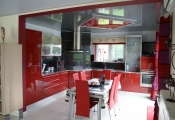 Stretch ceiling in kitchens