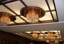 Stretch ceiling inside restaurant