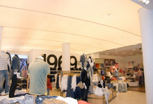 Translucent ceiling in retail store