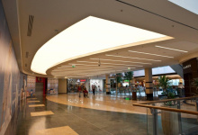 Shopping mall with translucent ceiling