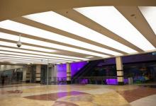 Shopping center luminous ceiling
