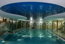 High gloss spa and wellness center ceiling