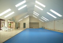 Luminous ceiling in spa center