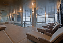 Installed suspended ceiling in spa center