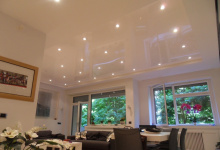 Living room with suspended ceiling