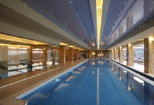 Pools with suspended ceilings