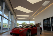 Car shop with translucent ceiling