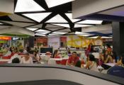 Restaurant with translucent ceiling