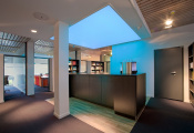 Library with translucent ceilings