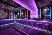 Nightclub with translucent ceiling