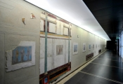 Museum with translucent ceiling