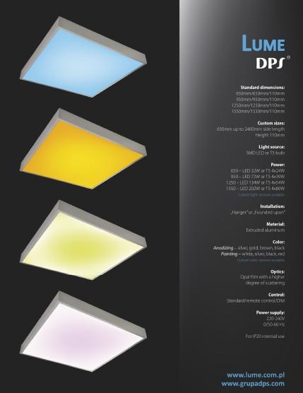 General information regarding DPS light panel LUME