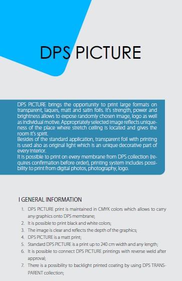 General information regarding DPS picture